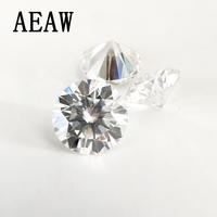 Moissanite Loose Stones 4 pcs Round 4mm and 1pcs 0.5ct Emeral and 1pcs Pear Shape 2ct GH Color