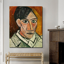 Famous Artists Self Pablo Picasso HD Canvas Painting Poster Prints Marble Wall Art Painting Decorative Picture Modern Home Decor bolton sarah knowles famous european artists