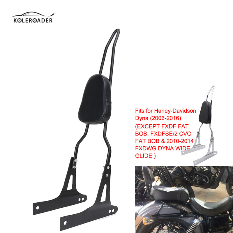 KOLEROADER For Harley Detachable Backrest Sissy Bar Dyna Softail Street Glide FXD FXDB FXDC FXDL FXDWG FXDSE tcmt motorcycle 49mm gauntlet fairing lock mount kit for harley dyna super glide low rider street bob custom fxd fxdc fxdl fxdb