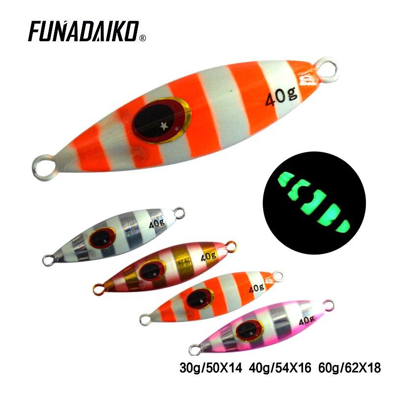 jigman 30g FUNADAIKO lead jig fishing bait Artificial Metal Lure Luminous Slow lure fishing Jigging Slow jig lure lure jig цена
