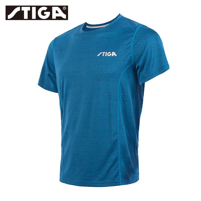New Arrival Stiga Table Tennis Clothes Sportswear Quick Dry Short Sleeved Men Ping Pong Shirt Badminton Sport Jerseys(China)