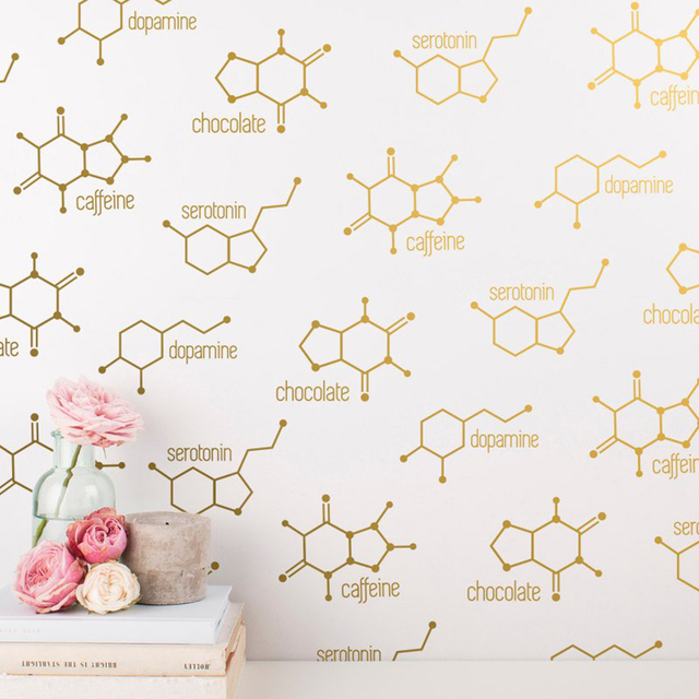 Chemical Structure Unique Wall Sticker Kids Room Living Room 4 Styles  Chemical Formula Wall Decal Bedroom Vinyl School Decor