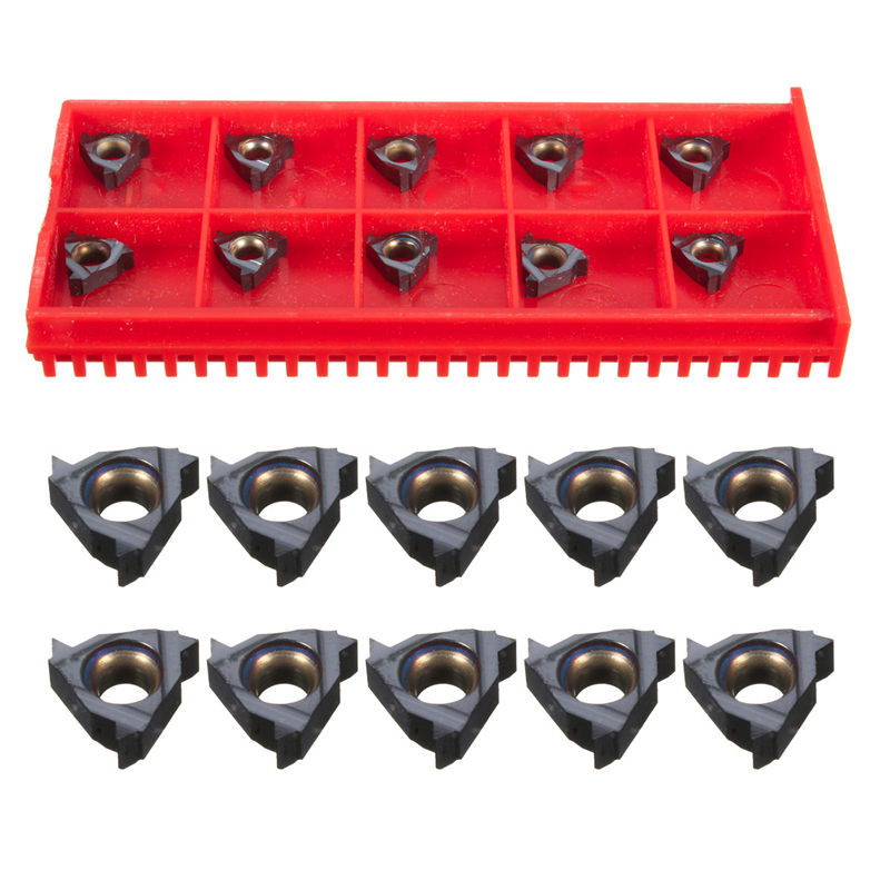 10Pcs/Set 1/4 Inch 11ER A60 Carbide Inserts for SIR/SNR Internal Threading CNC Blade Best Promotion