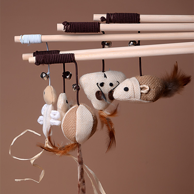 Pet cat toy Cute Design bird Feather dog toy cat tease wooden stick Toy for cats Products For kids pets