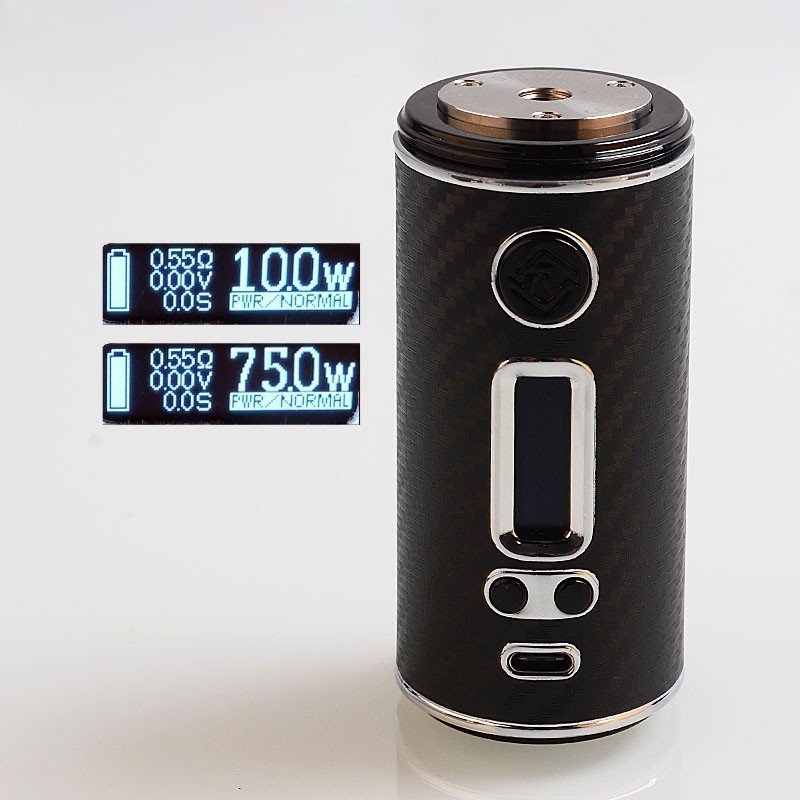 Original ShenRay GEO 75W TC 18650 / 26650VW Variable Wattage Box Vape Mod Compatible with RDA / RTA / RDTA USB Port OLED Screen