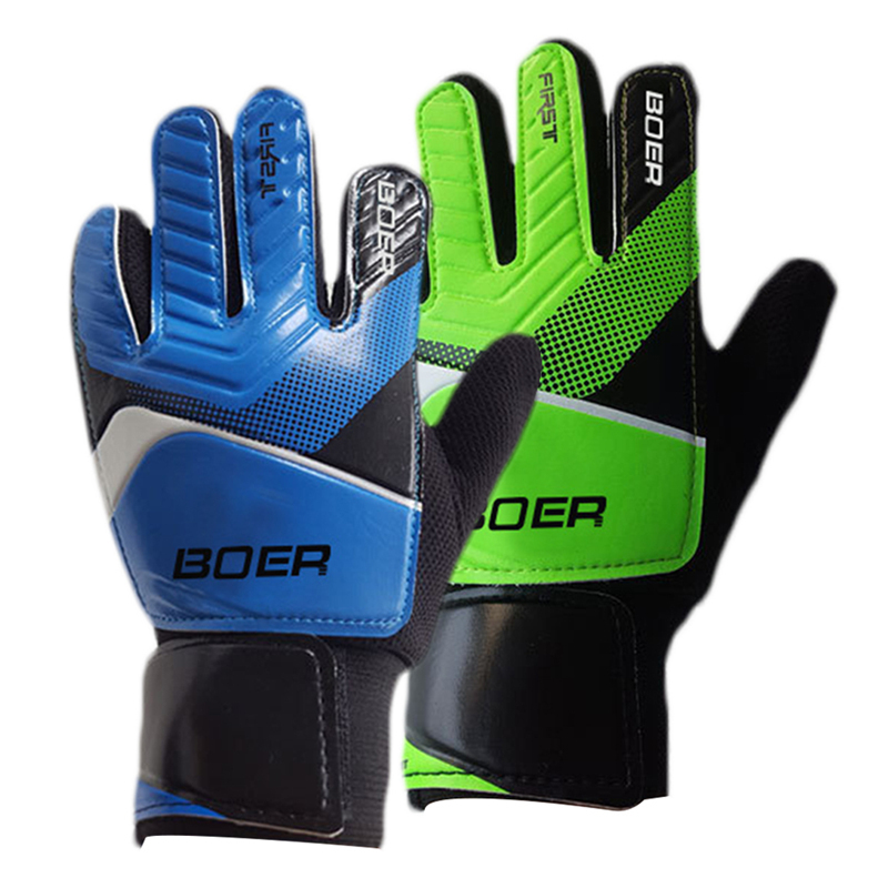 New Kids Men Goalie Soccer Gloves Full Latex Foam Professional Goalkeeper Football Gloves 5 Finger Save Guard
