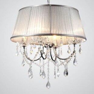 Мода пастырской свет кристалл сочетание подвесной светильник светло-фиолетовый Серебряный цвет золотистый покрытие подвесные светильник...