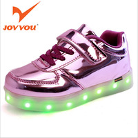 JOYYOU Brand 2017 USB Charging Basket Led Children Shoes With Light Up Kids Casual Boys Girls