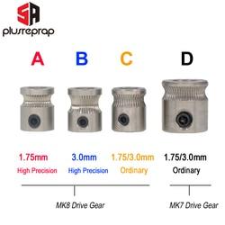 1PC MK8 MK7 Drive Gear for 1.75mm 3mm Filament 3D Printer Reprap Extruder Pulley 5mm Shaft