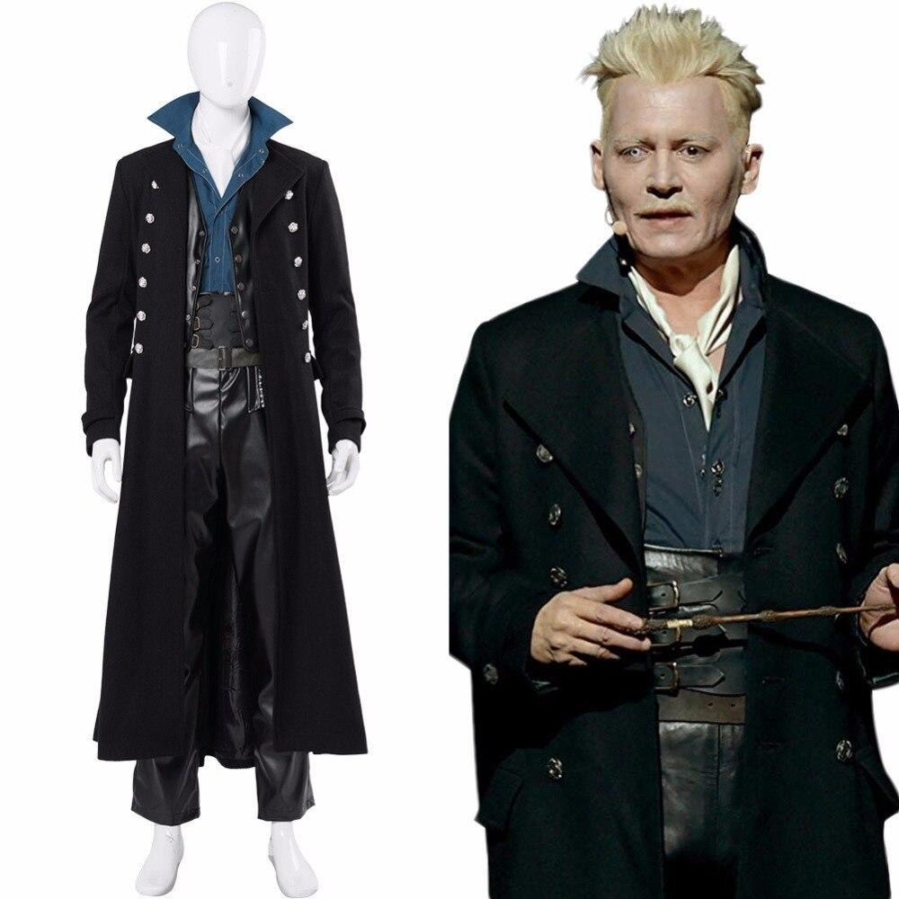 Фантастические звери: преступления Гриндельвальда Косплей Геллерт Гриндельвальд костюм для взрослых мужчин женщин Хэллоуин костюм настра