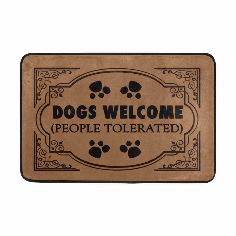 Funny Entrance Welcome Doormat DOGS WELCOME Floor Mat Kitchen Rugs Bedroom Carpets Decorative Stair Felpudo Home Decor Crafts
