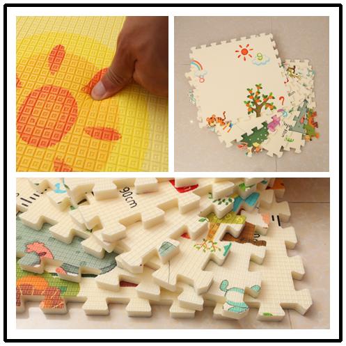 Նորածինների փայլում 6 հատ XPE Baby Play Mat - Խաղալիքներ նորածինների համար - Լուսանկար 3