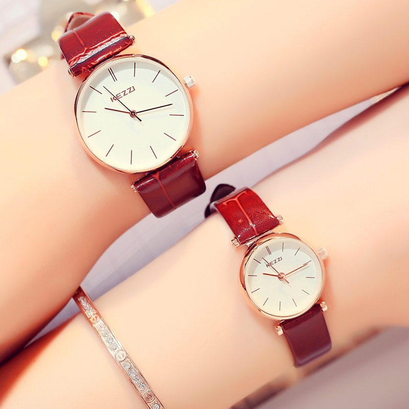 Fashion leather Belt Watches simple ladies Watches Leisure female Watches Waterproof Watches