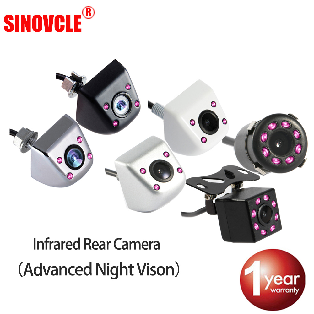 SINOVCLE Car Rear View Camera Reverse Infrared Camera Advanced Night Vision for Parking Monitor Waterproof CCD HD Video