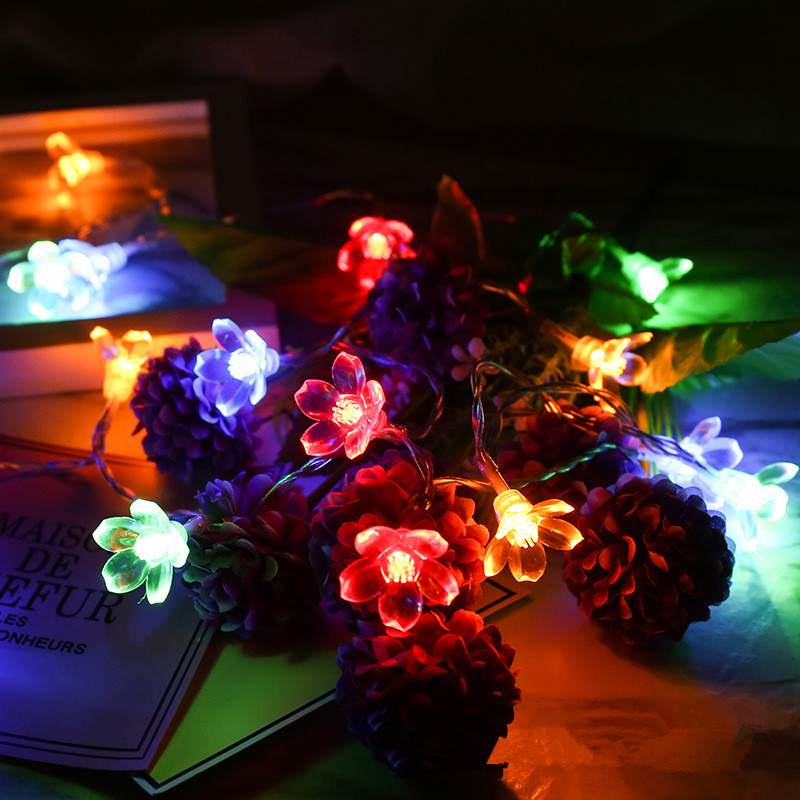 Cherry Blossoms Led Lights 2M 20 LED Power Fairy Garland Wedding Party Diy Decorations Home Indoor Happy Birthday Party Decor,5