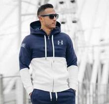 Muscleguys Brand Fitness Hoodies Men Gyms Clothing Men's hoodies Zipper Casual Sweatshirt Men's Slim Fit Hoodie Jackets