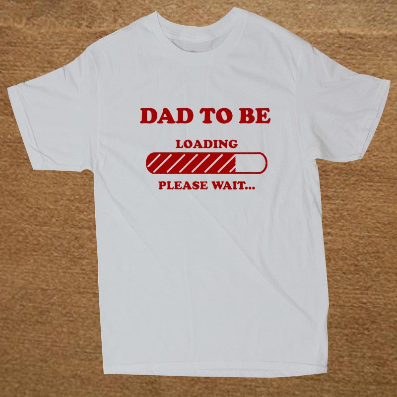 Dad to Be Future Dad Maternity Baby Announcement Father Dad Christmas Gift  T SHIRT Short Sleeve Cotton T Shirt-in T-Shirts from Men s Clothing on ... 3687ade6972