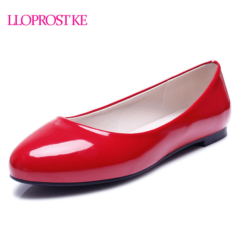 LLOPROST KE Women Flat Shoes New Spring Slip On Fashion Round Toe Flat Bottom Flat Heel Shoes Woman Comfortable Shoes MY121 women s shoes 2017 summer new fashion footwear women s air network flat shoes breathable comfortable casual shoes jdt103