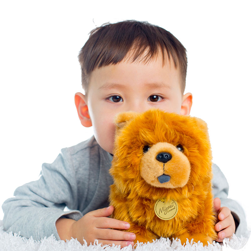 Original Simulation Dog Pet Chow Chow Soft Stuffed Animal Plush Toy Doll Birthday Gift Children Baby Gift