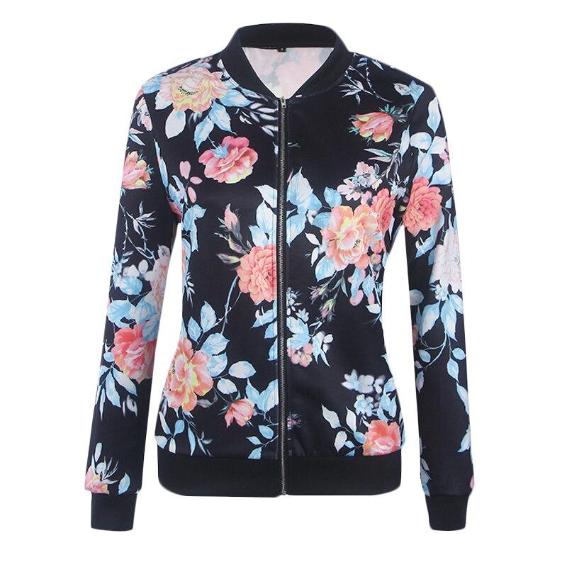 Summer Women Basic Jacket 2019 New Women Bomber Jacket Long Sleeve Flower Thin Coat Casual Tops Female Jacket Outerwear Clothes