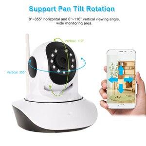 Image 4 - Monitor de bebé con Sensor de humedad y temperatura de visión nocturna de Audio bidireccional PTZ compatible con cámara IP WIFI HD Pan Tilt inalámbrica de 1080P