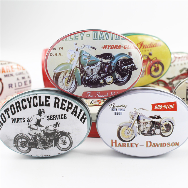 Aliexpresscom Buy Vintage Small Tin Box Treasure Chest Metal Oval