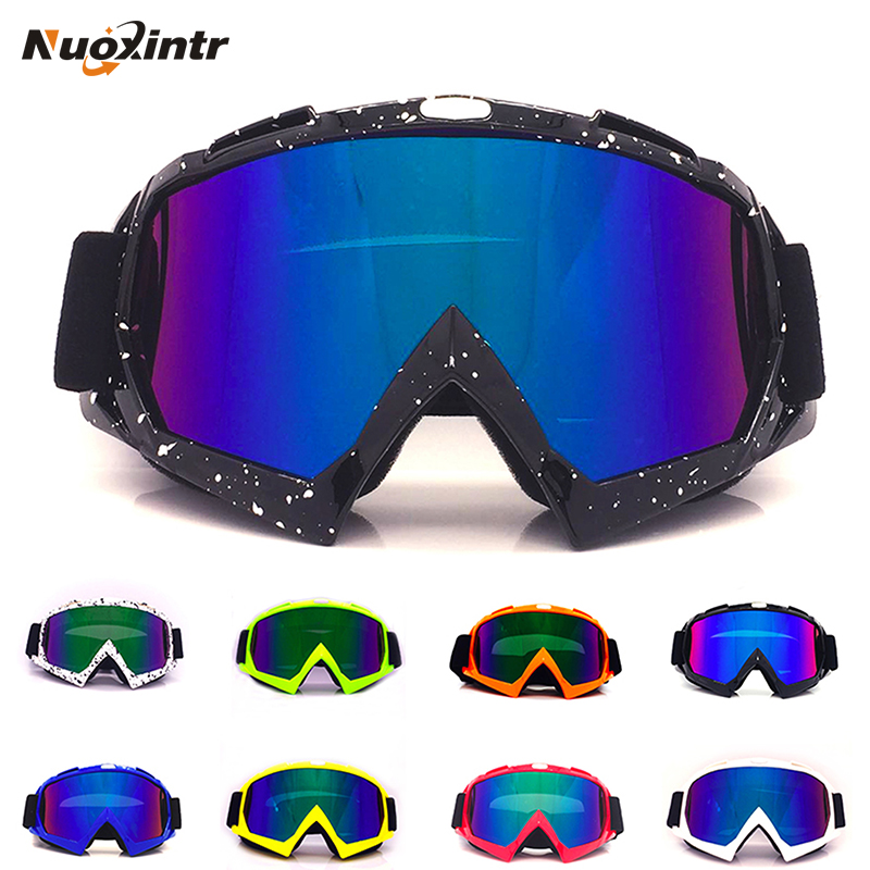 Nuoxintr Universal Motorcycle Goggles Glasses MX Outdoor Sport Glasses Motocross Dirt Bike Moto Goggles Man Women