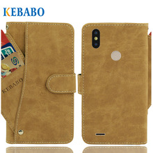 Vintage Leather Wallet Tecno Camon i Sky 2 Case 5.5 Flip Luxury 3 Front Card Slots Cover Magnet Stand Phone Protective Bags