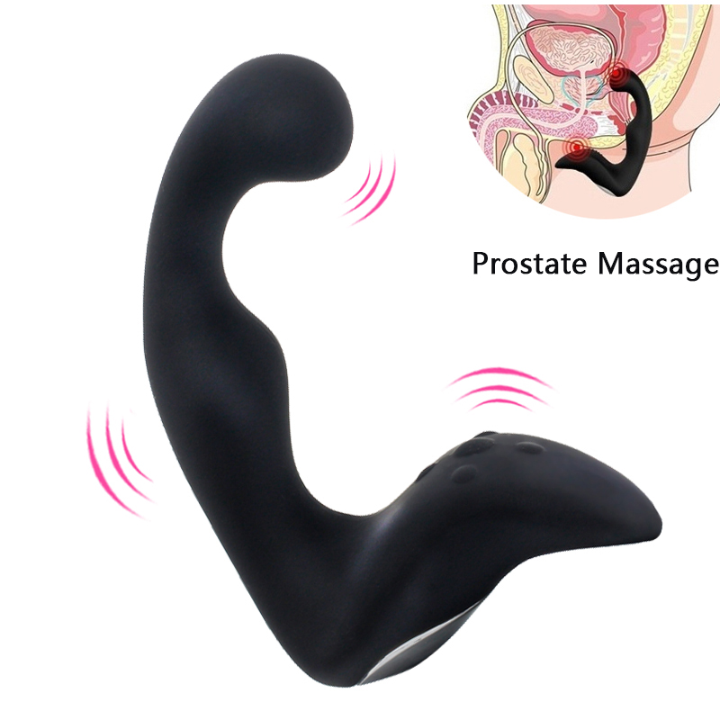10 Speed Vibration Prostate Massager Sex Toys for Men Silicone USB Charging Anal Plugs Vibrator Stimulation Adult Man Anal Toys levett caesar male prostate vibration massage anal sex toys for men masturbation adult sex product