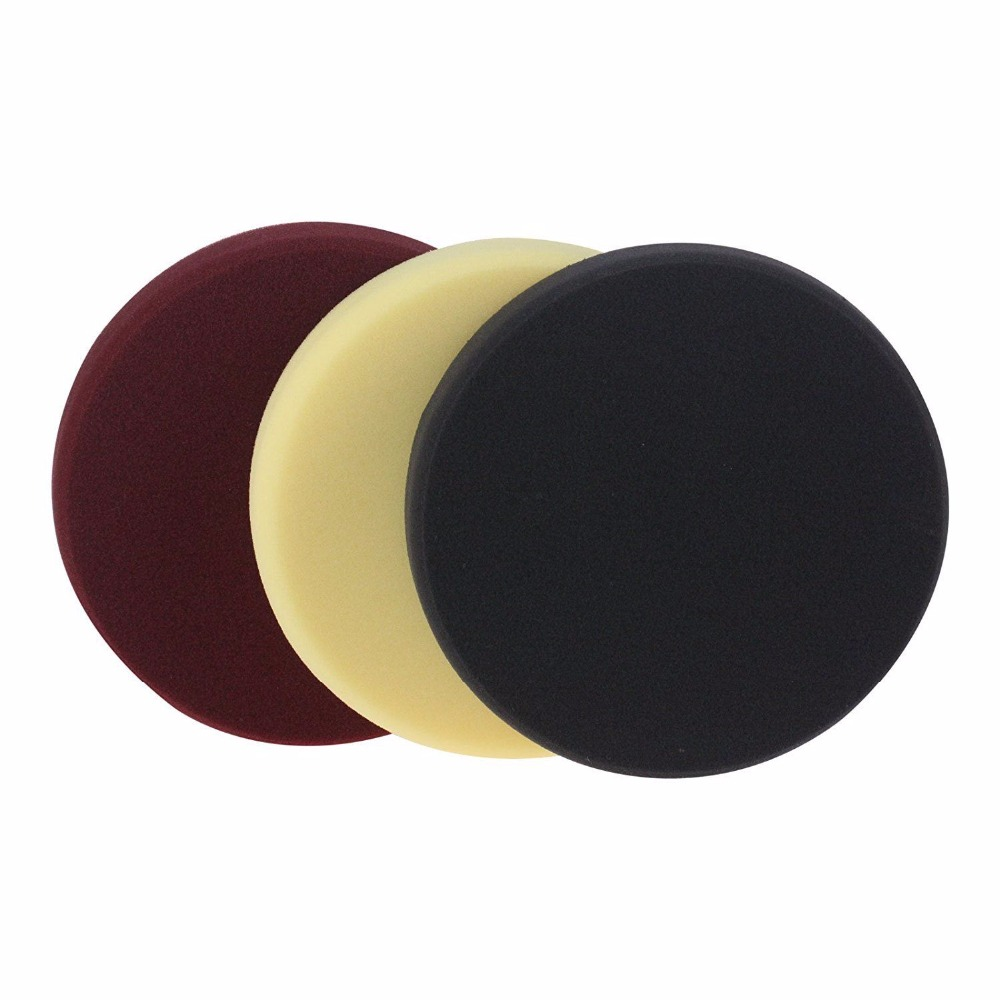 3Pc 8inch (200mm) Mix Color Foam Buffing Polishing Pads