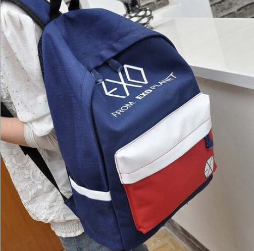 Free shipping /Hot The new Casual canvas shoulder bag / Korean unisex / backpack college wind / student exo bags schoolbag free shipping 2014 boom bag leisure contracted one shoulder bag chain canvas bag