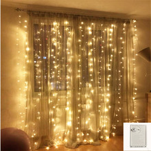 outdoor Memory 8 Modes 2*2 180LED String Lights fairy Christmas light wedding Xmas garland garden Party Curtain Decor waterproof