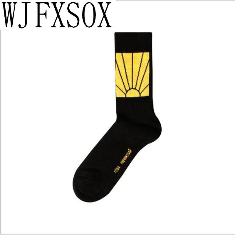 WJFXSOX 1 pairs Crew Socks Gosha Rubchinskiy Socks For Men Women Skateboard Hip Hop meias Three Color Cotton Sox Hemp Male Socks