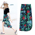 Bohemian maxi Skirt Summer Style Beach Chiffon Long Skirt Women Skirt D8974