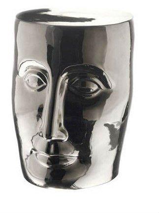 Jingdezhen Silver/Platinum Color Ceramic Porcelain Face Stool With H38.5cm