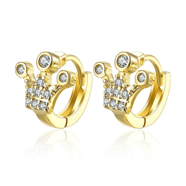 Most Trendy Fancy Ear Cuff Jewelry Three Dot Footprint Setting Cubic Zircon Women S Gold Clip