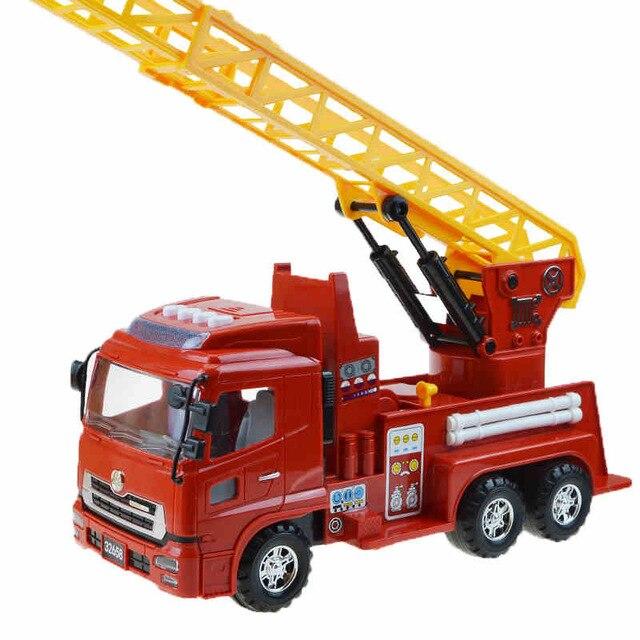 Construction jouets éducatifs véhicules modèle en plastique inertie camion grands camions de pompiers aux garçons jouets pour enfants modèles de voiture