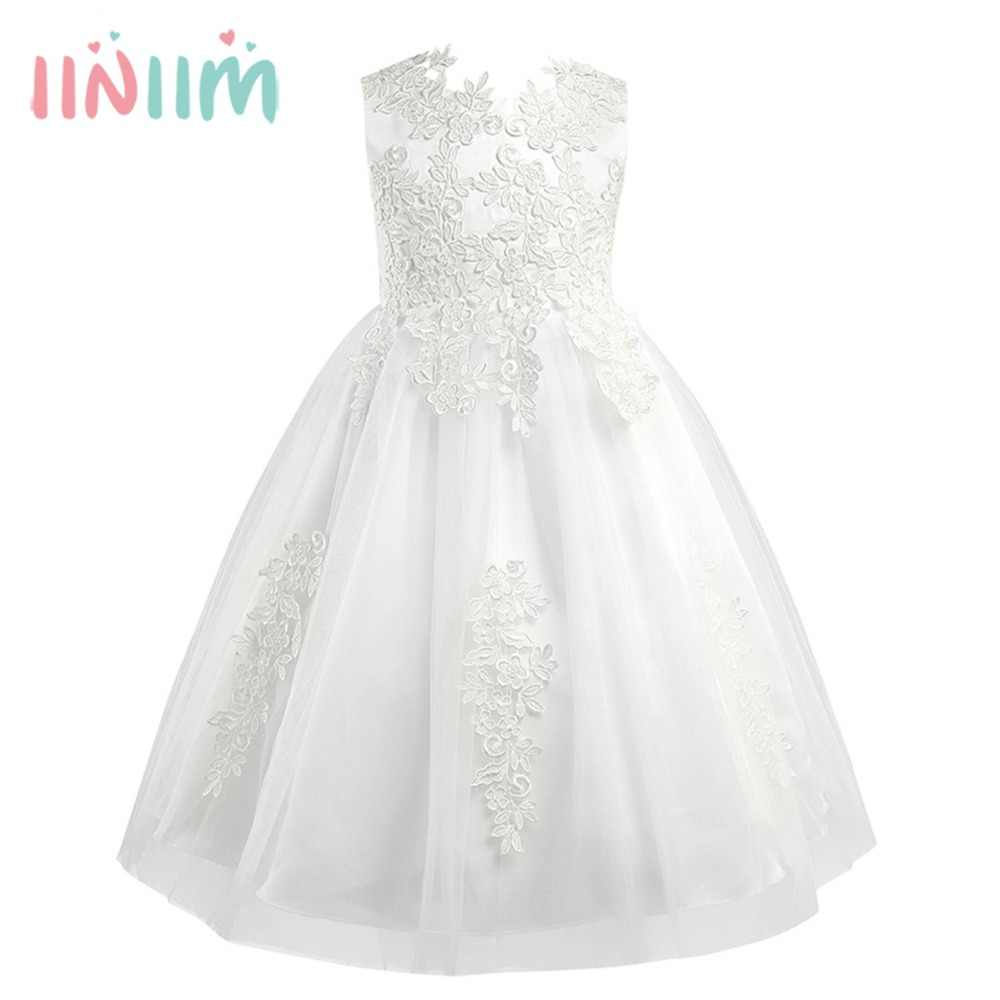 a68154376e7 Detail Feedback Questions about 2018 Girls Water soluble Lace Flower Girl  Dress Formal Tutu Princess Pageant Wedding Vestido de festa Kids Birthday  Party ...