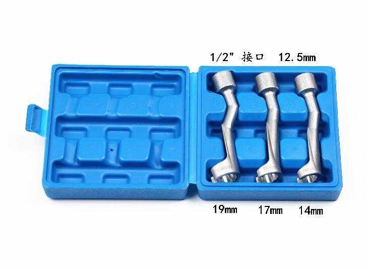 """Гаечный ключ с насадкой, гаечный ключ 3 шт. в одном наборе, ключ для табачной трубы 1/""""(12,5 мм) 14 мм 17 мм 19 мм"""