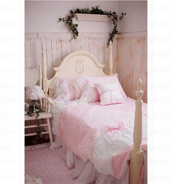 Dj Koreanische Spitze Bettwäsche Set Benutzerdefinierte Kleine Rosa