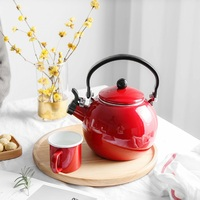 2L 3L enamel whistle domestic water heater hot water pottery stove gas induction cooker teapot kettle