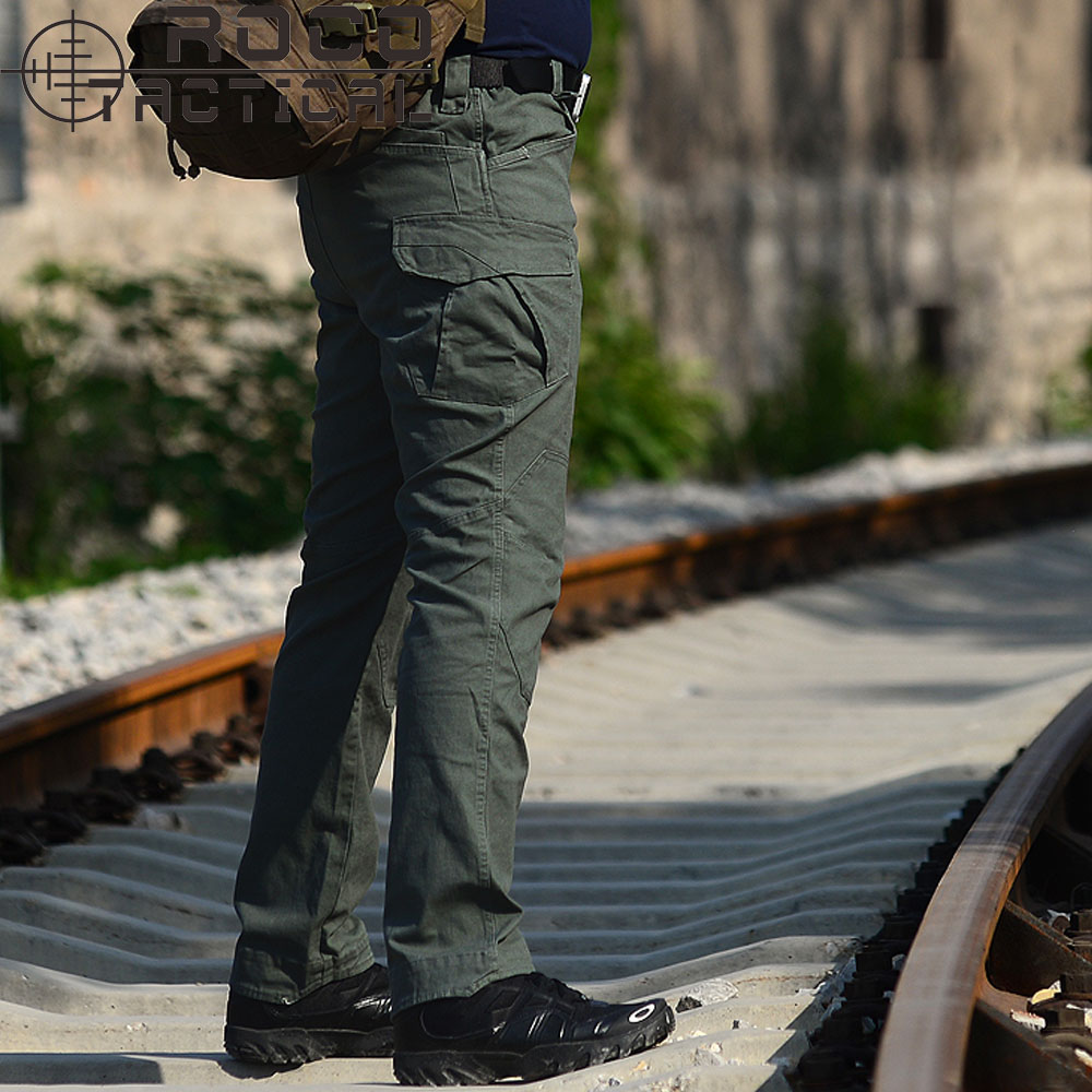 ROCOTACTICAL Mens Loose Military Tactical Pants Combat Hiking Trousers Multi pockets Camping Military Cargo Pants Jungle