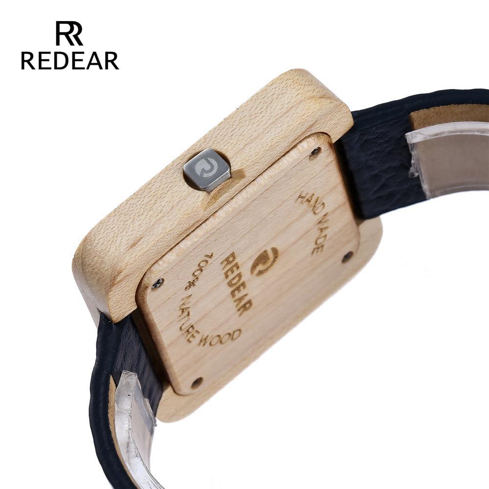 REDEAR Zegarki Bambusowe zegarki dla mężczyzn Kobiety Zegarki - Zegarki damskie - Zdjęcie 4