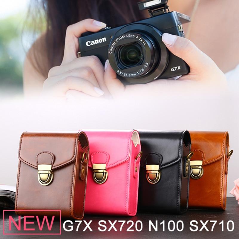 High Quality PU Digital Camera Bag Leather Case For Canon G7X Mark II G9X SX730 SX720 SX710 SX700 SX620 SX610 SX280 SX275 IS A95