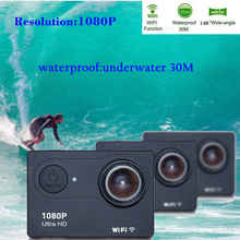 Wholesale Trainshow Motorcycle DVR Unltra HD Action Camera 16M Car Dash Cam Waterproof Diving WiFi  Helmet Action Cam for outdoor sports