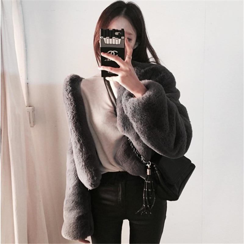 Artificielle Manteau Court 2018 Pur Noir Super Couleur gris Tempérament De Nouveau Hiver Doux Fourrure PZiXkOwuT