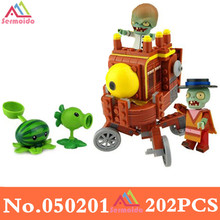 цена на Plants Vs Zombies Garden Maze Struck Game Action Toy & Figures Anime Figure Building Blocks Bricks Toys Educational Toys DBP165