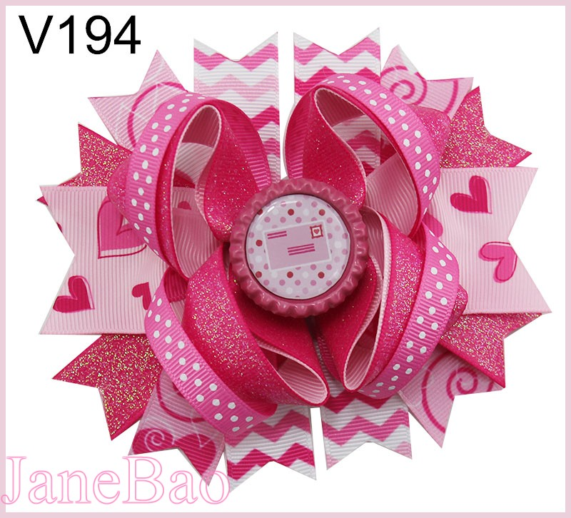 free shipping 30pcs valentine s day sprinkles hair bows popular cheer bows holiday hair clips valentines