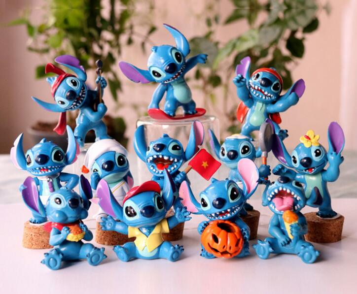 HOT 4-6CM Mini Stitch Figure Toys Set New Anime Stitch Action Figurines Christmas Gift and Dolls Home Party Supply Decoration
