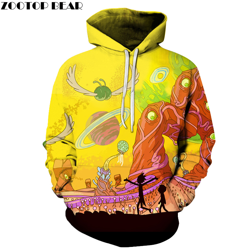 Rick And Morty 3D Hoodies Men Women Sweatshirts Casual Pullover Male Jackets Coat Novelty Streetwear Brand Tracksuits Asian size